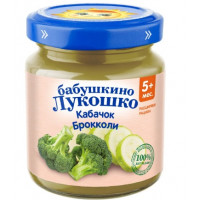 Пюре Бабушкино лукошко кабачки брокколи с 5мес. 100г