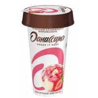 Коктейль Даниссимо йогуртный клубничное мороженое 2,6% 190г