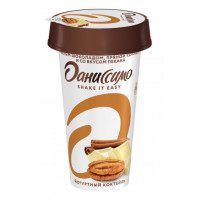 Коктейль Даниссимо йогуртный белый шоколад корица пекан 2,8% 190г