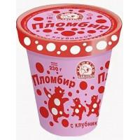 Мороженое Карелии пломбир с клубникой 230г