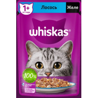 Корм для кошек Вискас желе с лососем от 1 года 85г