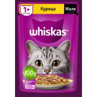 Корм для кошек Вискас желе курица от 1 года 75г