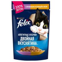 Корм для кошек Феликс с ягненком и курицей в желе 85г