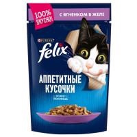 Корм для кошек Феликс с ягненком в желе 85г
