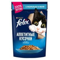Корм для кошек Феликс с форелью в желе 85г