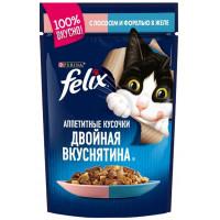 Корм для кошек Феликс с лососем и форель в желе 85г