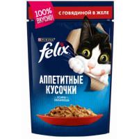 Корм для кошек Феликс с говядиной 85г