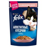 Корм для кошек Феликс лосось в желе 85г
