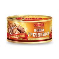 Каша Совок гречневая с говядиной 325г ж/б ключ
