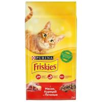 Корм для кошек Фрискис с мясом, курицей и печенью 2кг