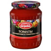 Томаты Валдайский погребок неочищенные в томатном соке 660г ст/б