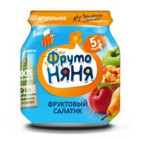 Пюре Фруто-няня фруктовый салатик яблоко/груша/персик с 5мес. 100г