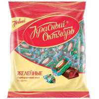 Конфеты Красный Октябрь желейные со вкусом барбариса 250гр