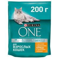 Корм для кошек Пурина Ван для взрослых кошек с курицей и цельными злаками 200г