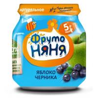 Пюре Фруто-няня яблоко/черника 100г