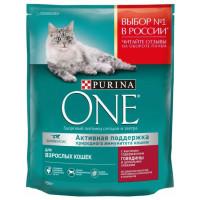 Корм для кошек Пурина Ван для взрослых кошек с говядиной и цельными злаками 750г