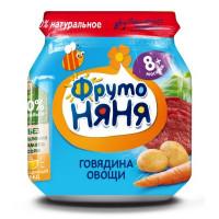 Пюре Фруто-няня говядина/овощи 100г