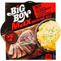 Пюре картофельное БигБон макс по-домашнему с кусочками тушеной говядины 110г