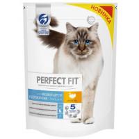Корм для кошек Перфект Фит для красивой шерсти и здоровой кожи с индейкой 650г