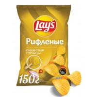 Чипсы Лэйс рифленые со вкусом горчицы 150г