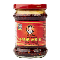 Соус Лао ган Ма острый с хрустящим перцем чили 210г ст/б