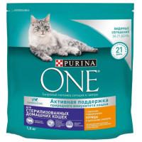 Корм для кошек Пурина Ван для стерилизованных кошек с курицей и злаками 1,5кг
