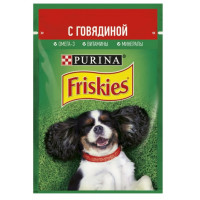 Корм для собак Пурина Фрискис для взрослых собак с говядиной 85г