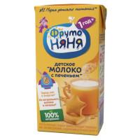 Коктейль Фруто-няня молочный с печеньем для детей 2,4% 0,2л