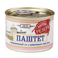 Паштет Мясной резерв печеночный со сливочным маслом ГОСТ 190г
