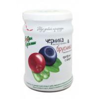 Черника и брусника Ягоды карелии протертая с сахаром 280г
