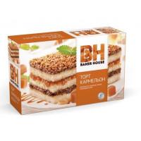 Торт бисквитный Бекер Хоус Кармельон 350г