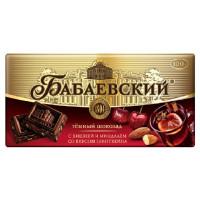 Шоколад Бабаевский темный с вишней и миндалем со вкусом глинтвейна 100г