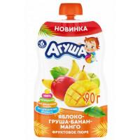 Пюре Агуша яблоко-груша-банан-манго с 6мес. 90г