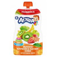 Пюре Агуша яблоко-банан-клубника-киви с 8мес. 90г