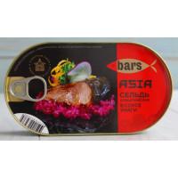 Сельдь Барс атлантическая в соусе унаги 175г ж/б ключ