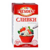 Крем Президент сливочный сливки для взбивания 35% 1000г