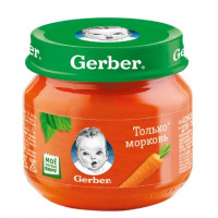 Пюре Гербер с морковью с 4мес. 80г