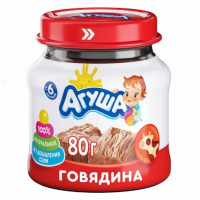 Пюре Агуша говядина с 6мес. 80г с/б