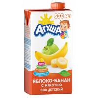 Сок Агуша яблоко-банан с мякотью 500мл