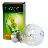 Лампа Фавор 40W Е27 груша прозрачная