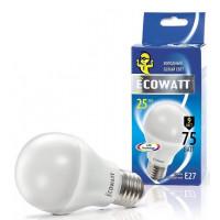 Лампа Эковатт 75W 4000К Е27 холодный белый свет груша
