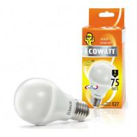 Лампа Эковатт 75W 2700 Е27 теплый белый свет груша
