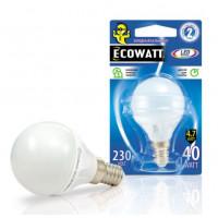 Лампа Эковатт P45 230B 40W 4000K E14 светодиодная