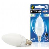 Лампа Эковатт В35 230В 40W 4000K E14 светодиодная