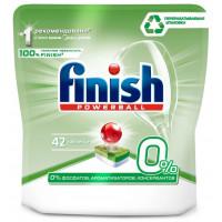 Средство Финиш БЕСфосфат 0% для мытья посуды в посудомоечных машинах в таблетках 42шт