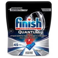 Средство Финиш Квантум Ультимат для мытья посуды в посудомоечных машинах в капсулах 45шт
