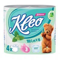 Бумага туалетная Клео Арома Мята 3-х слойная 4рулона