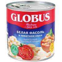 Фасоль Глобус белая в томатном соусе ж/б 400г