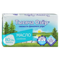 Масло Тысяча озер сливочное соленое 80,5% 100г