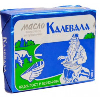 Масло Калевала сливочное 82,5% 180г